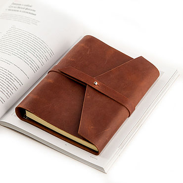 Stationery handmade. Livemaster - original item Leather notebook A5 rings with strap genuine leather Crazy Horse. Handmade.