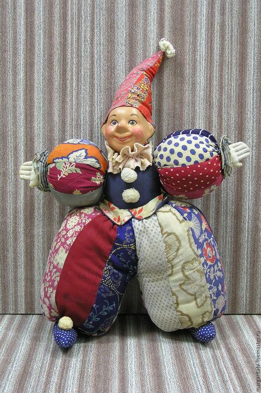 Коллекционные куклы ручной работы. Ярмарка Мастеров - ручная работа. Купить реставрация куклы Клоуна. Handmade. Комбинированный, опилки древесные