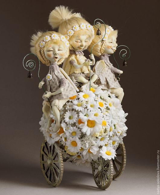 Коллекционные куклы ручной работы. Ярмарка Мастеров - ручная работа. Купить Аллилуйя!. Handmade. Белый, ромашки, хлопок