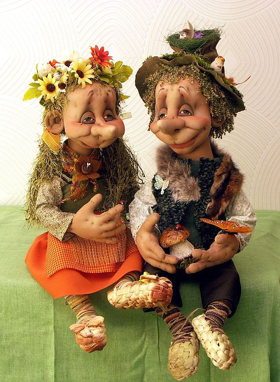 Wooden Elfs, Collectible Dolls handmade, Moscow, Фото №1
