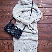 Одежда ручной работы. Ярмарка Мастеров - ручная работа Платье-футляр с косами. Handmade.