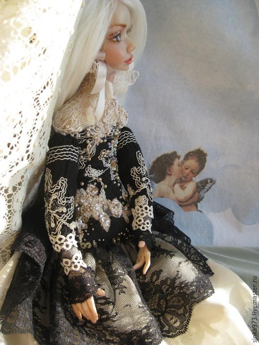 Коллекционные куклы ручной работы. Ярмарка Мастеров - ручная работа. Купить Донателла. Handmade. Чёрно-белый, кукла, генезис