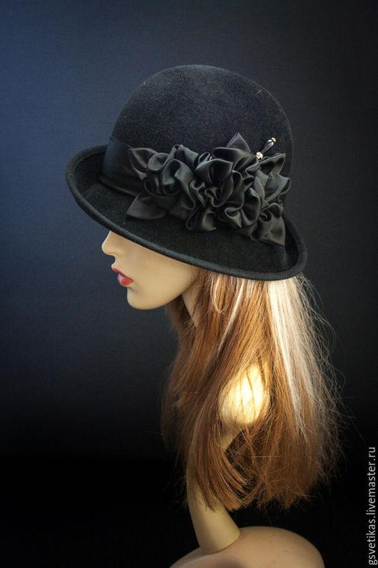 Шляпы ручной работы. Ярмарка Мастеров - ручная работа. Купить Велюровая шляпка Паулина. Handmade. Шляпа, велюровая шляпка