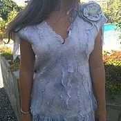 """Одежда ручной работы. Ярмарка Мастеров - ручная работа :Блуза-жилет """"Вода"""". Handmade."""