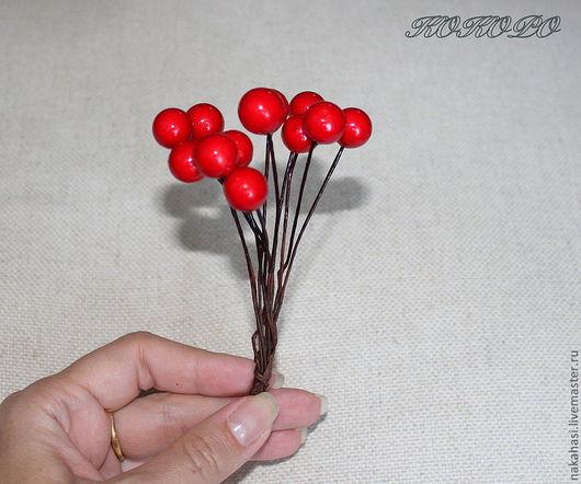 Другие виды рукоделия ручной работы. Ярмарка Мастеров - ручная работа. Купить Ярко-красные ягодки. 12 шт. диаметр 1,3 см. Арт. – Я280. Handmade.