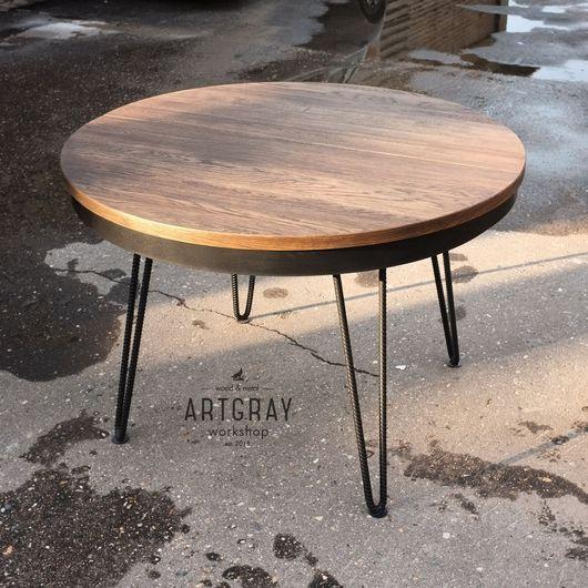 Мебель ручной работы. Ярмарка Мастеров - ручная работа. Купить Круглый обеденный стол в индустриальном стиле. Handmade. Обеденный стол