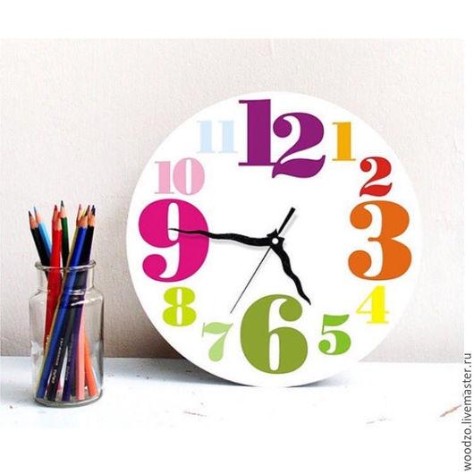 """Часы для дома ручной работы. Ярмарка Мастеров - ручная работа. Купить Часы настенные """"Яркое время"""". Handmade. Комбинированный, белый"""