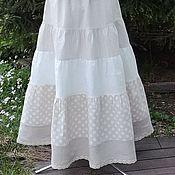 Одежда ручной работы. Ярмарка Мастеров - ручная работа №187 Льняная летняя длинная юбка. Handmade.