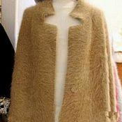 Одежда ручной работы. Ярмарка Мастеров - ручная работа пальто из пуха норки кремовое. Handmade.