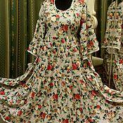 Одежда ручной работы. Ярмарка Мастеров - ручная работа Большой размер.Платье в пол в стиле бохо.. Handmade.