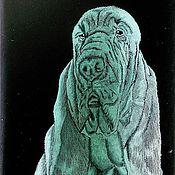 Картины и панно ручной работы. Ярмарка Мастеров - ручная работа Бассет-Хаунд. Handmade.