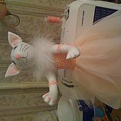Куклы и игрушки ручной работы. Ярмарка Мастеров - ручная работа кошка балерина. Handmade.