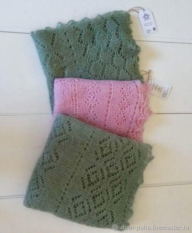Down shawl green, pink, khaki, pistachio, Shawls1, Moscow,  Фото №1