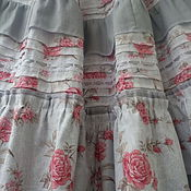 """Одежда ручной работы. Ярмарка Мастеров - ручная работа Летняя длинная юбка """"Розы и серебро"""". Handmade."""