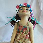 """Для дома и интерьера ручной работы. Ярмарка Мастеров - ручная работа Интерьерная кукла """"Наслаждаясь летом"""". Handmade."""