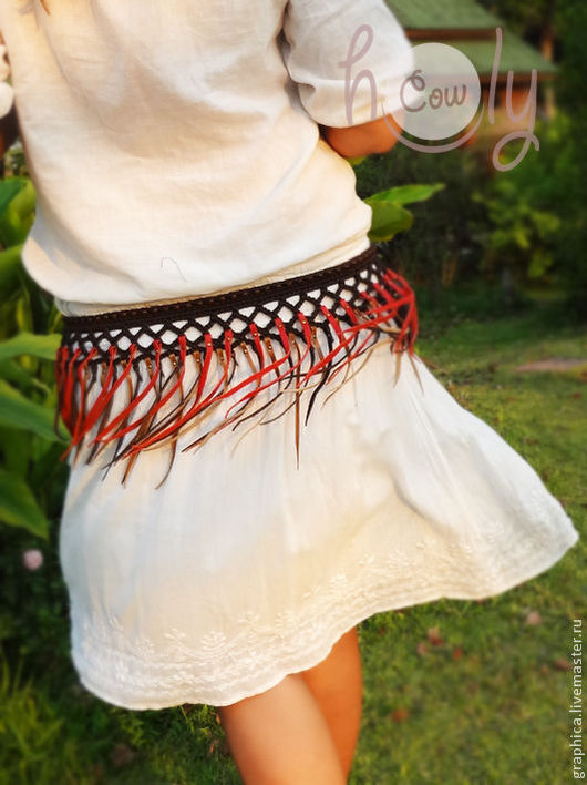 """Пояса, ремни ручной работы. Ярмарка Мастеров - ручная работа. Купить Плетеный кожаный пояс """"Hawaii"""". Handmade. Пояс"""