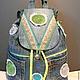 Рюкзаки ручной работы. Купить джинсовый рюкзак ``Стильная штучка`, сумки и рюкзаки ручной работы. Джинсовый, женский рюкзак, handmade, автор Zhanna Petrakova Atelier Moscow