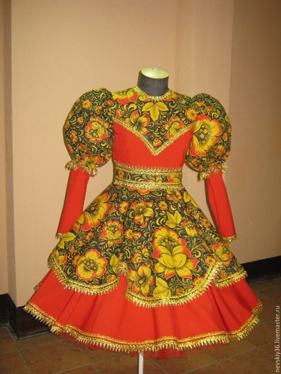 Платье в стиле хохлома