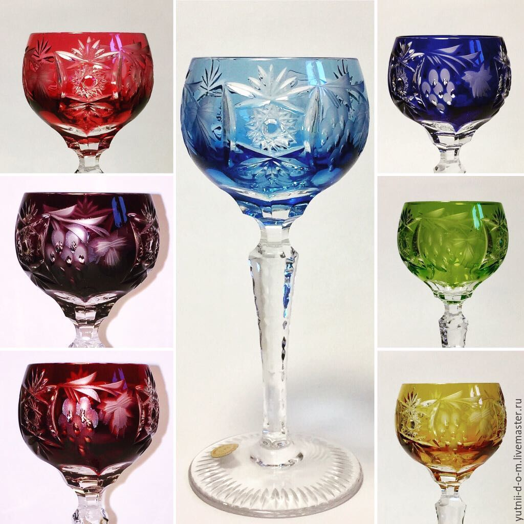 Vintage: Set of Glasses crystal 14cm 8 pieces Nachtmann grapes, Vintage glasses, Moscow,  Фото №1