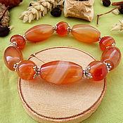 Фен-шуй и эзотерика handmade. Livemaster - original item Bracelet with carnelian. Handmade.