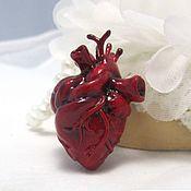 Украшения ручной работы. Ярмарка Мастеров - ручная работа Кулон сердце в анатомическом стиле  из полимерной глины. Handmade.