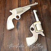 Материалы для творчества ручной работы. Ярмарка Мастеров - ручная работа Пистолет Револьвер неокрашенное дерево. Handmade.
