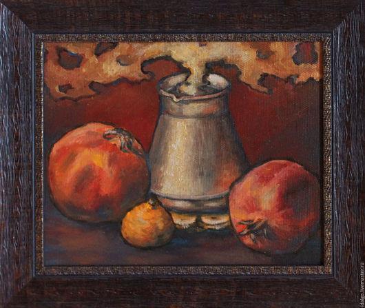 """Натюрморт ручной работы. Ярмарка Мастеров - ручная работа. Купить """"Кофетайм"""",  картина маслом на холсте. Handmade. Натюрморт, коричневый"""