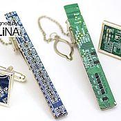 Украшения ручной работы. Ярмарка Мастеров - ручная работа Кибер зажимы для галстуков в ассортименте. Handmade.