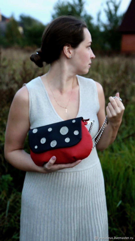 Handbags handmade. Livemaster - handmade. Buy Handbag 'Laura' with Golden peas of art. 447.Polka dot