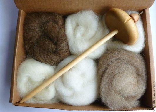 Другие виды рукоделия ручной работы. Ярмарка Мастеров - ручная работа. Купить Набор для прядение. Handmade. Прядение на веретене, веретено