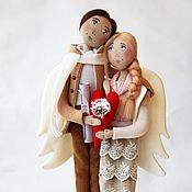 """Куклы и игрушки ручной работы. Ярмарка Мастеров - ручная работа Ангелы """"И летаем мы только обнявшись..."""" (Вариант с открытыми глазами). Handmade."""