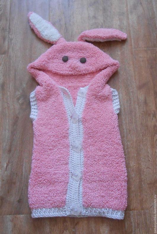 Одежда унисекс ручной работы. Ярмарка Мастеров - ручная работа. Купить Жилет для девочки. Handmade. Жилет, смешной заяц