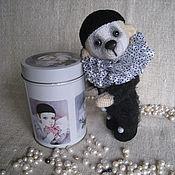 Куклы и игрушки ручной работы. Ярмарка Мастеров - ручная работа Мишка Пьеро черный. Handmade.