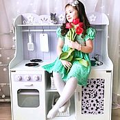Куклы и игрушки handmade. Livemaster - original item Children`s kitchen wooden. Handmade.