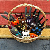 Куклы и игрушки ручной работы. Ярмарка Мастеров - ручная работа Игрушки Зверики. Handmade.