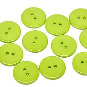 Материалы для творчества ручной работы. Ярмарка Мастеров - ручная работа Пластиковые пуговицы 23 мм зелёные (20 шт). Handmade.