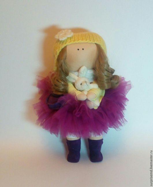 Коллекционные куклы ручной работы. Ярмарка Мастеров - ручная работа. Купить Интерьерная текстильная кукла. Handmade. Брусничный, кукла интерьерная