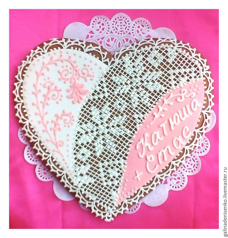 gingerbread wedding pink heart, Gingerbread Cookies Set, Rostov-on-Don,  Фото №1