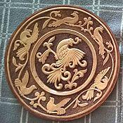 "Посуда ручной работы. Ярмарка Мастеров - ручная работа Настенная тарелка ""Птица"". Handmade."