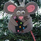 Елочные игрушки ручной работы. Ярмарка Мастеров - ручная работа Елочная игрушка мышка из фетра. Handmade.