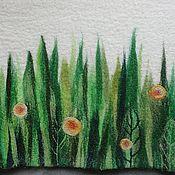 """Для дома и интерьера ручной работы. Ярмарка Мастеров - ручная работа Коврик для бани """"Зеленая травка"""". Handmade."""