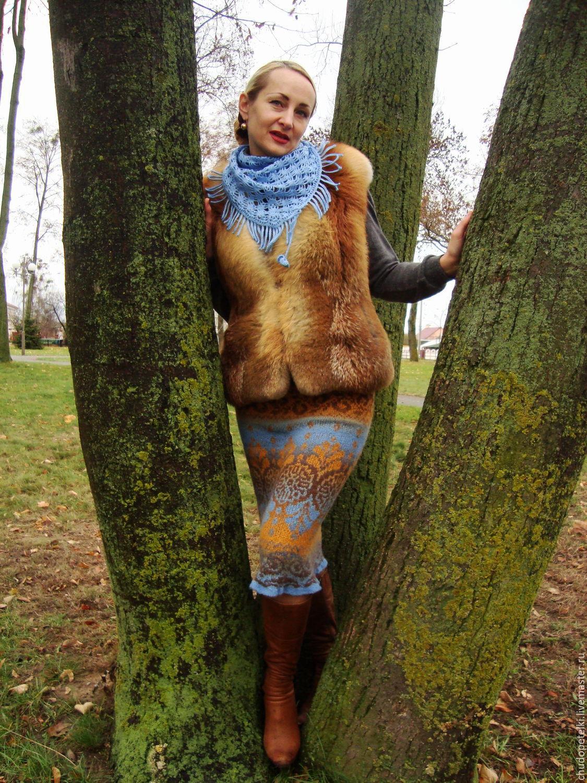 Jacquard skirt September, Skirts, Grodno,  Фото №1