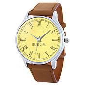 Дизайнерские наручные часы Brown_Римские Цифры