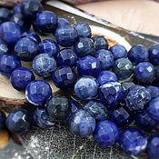 Материалы для творчества handmade. Livemaster - original item Natural sodalite faceted beads 10 mm (3989). Handmade.