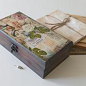 """Для дома и интерьера handmade. Livemaster - original item Купюрница """" Воспоминания"""". Handmade."""