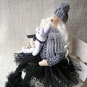 Куклы и игрушки ручной работы. Ярмарка Мастеров - ручная работа Зимняя тильда с зайкой. Handmade.