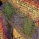 Шаль `Таежный рассвет` связана из пряжи `Кауни` - 100% шерсть.  Ажурная, теплая шаль изумительной цветовой гаммы, свойственной  прибалтийской пряже!