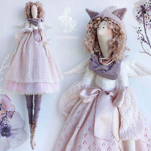 Куклы Тильды ручной работы. Ярмарка Мастеров - ручная работа. Купить Интерьерная кукла Тильда Ханна. Handmade. Бледно-розовый