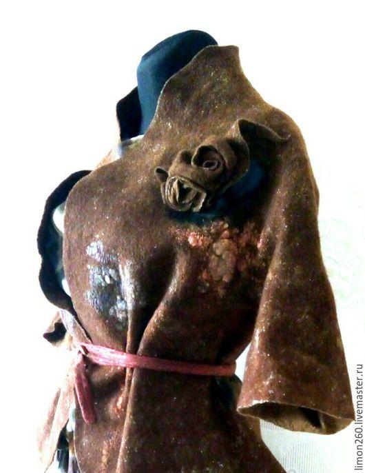 Пиджаки, жакеты ручной работы. Ярмарка Мастеров - ручная работа. Купить Жакет бабочка. Handmade. Коричневый, женский жакет