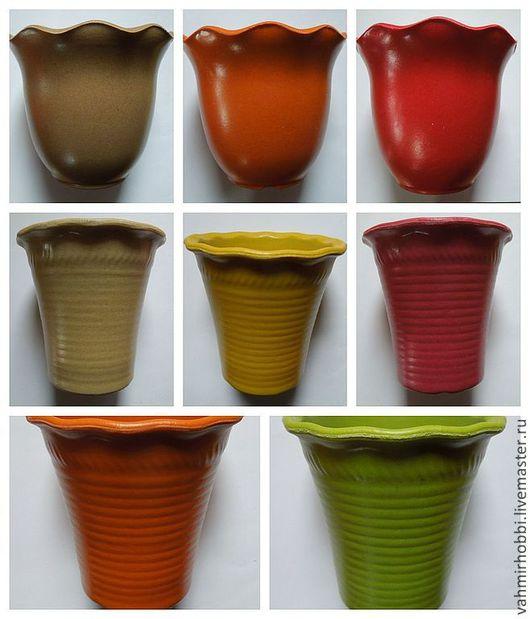 Другие виды рукоделия ручной работы. Ярмарка Мастеров - ручная работа. Купить Кашпо с волнистым краем 2х видов. Handmade.